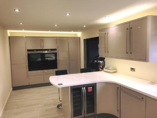 Kitchen lighting with 3000k (warm white) LED tape on top and bellow cabinets